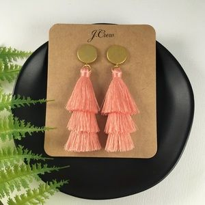 🍂NWT J.Crew Peach Tassel Drop Earrings